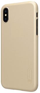 Клип-кейс Nillkin Super Frosted для Apple iPhone X (золотистый)