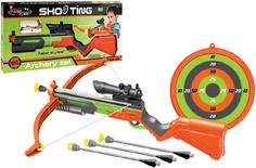 Игрушечное оружие S+S TOYS Арбалет 881-25 со стрелами и мишенью со светом