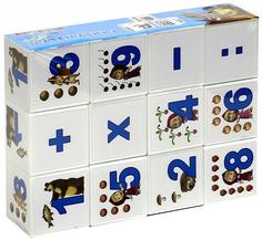 Затейники Кубики Математика GT8628 Маша и Медведь 12 шт.