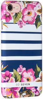 Клип-кейс So Seven Summer Chic принт Flower & Rayure для Apple iPhone 7/8 (с рисунком)