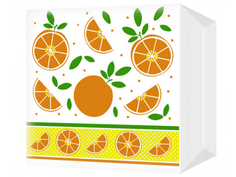 Салфетки Bulgaree Green Апельсины 24x24 1 слой 100шт 2112023