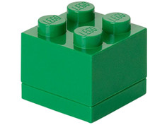 Пластиковый мини-кубик для хранения деталей Lego 4 Green 40111734