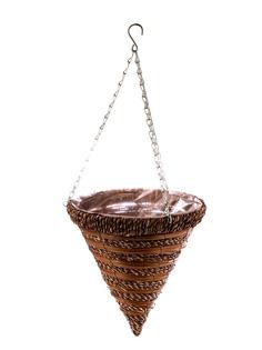Кашпо подвесное для цветов Palisad Ротанг 30cm 69063