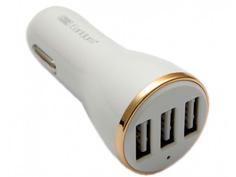 Зарядное устройство Earldom ES-156 3xUSB 3.4A + Lightning White