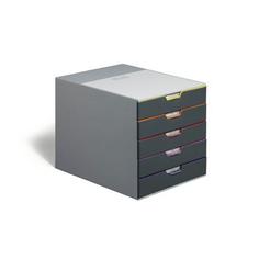 Бокс Durable с 5 цветными выдвижными ящиками 28x295x35cm 760527