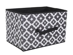 Аксессуар Короб для хранения Доляна Вензель 37x27x27cm Black-White 2694171