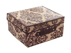 Аксессуар Короб для хранения Доляна Вензель 30x28x15cm Вензель Brown-Beige 1159117