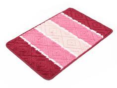 Коврик Доляна Ромбы 40х60cm Pink 2857355