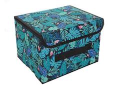 Аксессуар Короб для хранения Доляна Тропики 26x20x16cm Blue 2694157