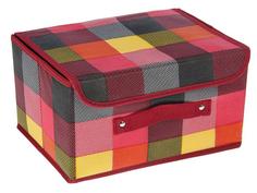 Аксессуар Короб для хранения Доляна Клетка 26x20x16cm Клетка Pink 1550864