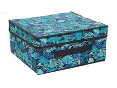 Аксессуар Короб для хранения Доляна Тропики 30x28x15cm Blue 2694158
