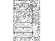 Огромная раскраска Globen Что скрывает холодильник PA067