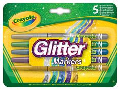 Блестящие фломастеры Crayola 5 цветов 58-8645