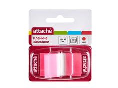 Стикеры Attache 25x45mm 25 листов Pink 166084