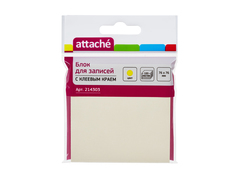 Стикеры Attache 76x76mm 100 листов Yellow 214303