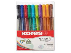 Ручка шариковая Kores 10шт 472621