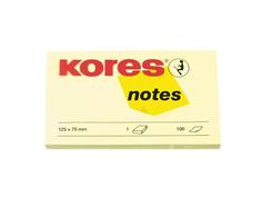 Стикеры Kores 125x75mm 100 листов Yellow 56393