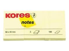 Стикеры Kores 50x40mm 300 листов Yellow 63470