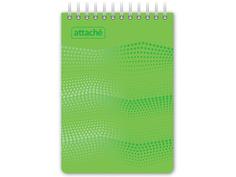 Блокнот Attache Waves A6 50 листов Green 98972