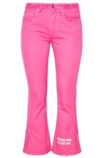 Розовые укороченные джинсы Msgm