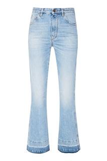 Голубые расклешенные джинсы Golden Goose