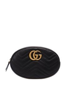 Черная поясная сумка GG Marmont Gucci