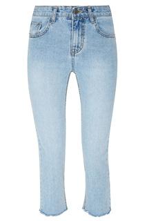 Голубые выбеленные джинсы с обрезанными краями D.O.T.127