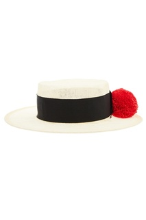 Соломенная шляпа с помпоном Ruslan Baginskiy