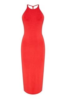 Красное платье на тонких бретелях Alexander Wang