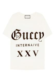 Хлопковая футболка с логотипом Gucci