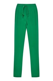 Зеленые брюки в спортивном стиле Red Valentino