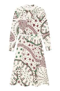 Платье с этническим принтом Valentino