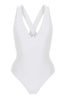 Белый слитный купальник Hermosa Bodypoetry