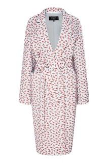Пальто с цветочным принтом Rochas