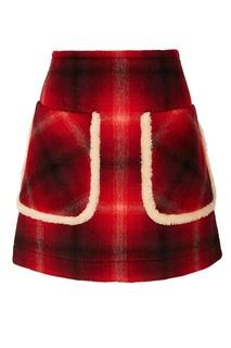 Красная юбка в клетку No21
