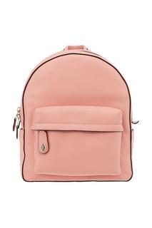 Розовый рюкзак из кожи Campus Coach