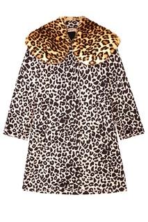 Пальто с леопардовым принтом No21