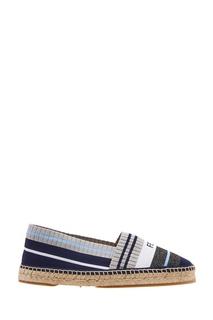 Эспадрильи из синего текстиля Fendi