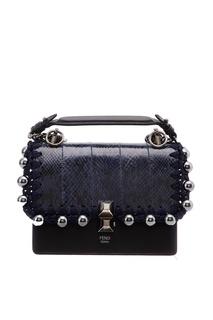 Кожаная сумка с заклепками Fendi
