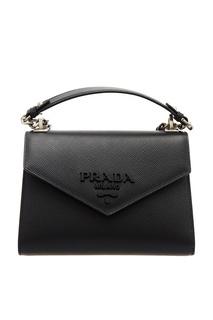 Черная сумка из сафьяновой кожи Prada