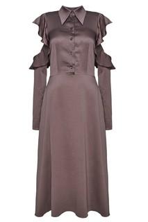 Серое шелковое платье ЛИ ЛУ