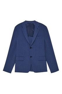 Фактурный синий пиджак Prada