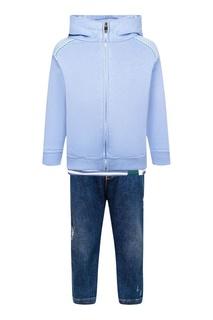 Комплект с джинсами, лонгсливом и худи Il Gufo
