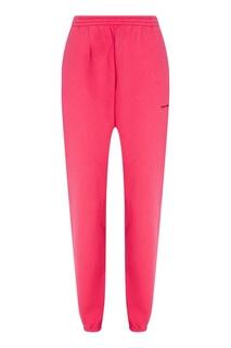 Розовые хлопковые брюки Balenciaga