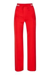 Красные брюки с эластичным поясом Valentino