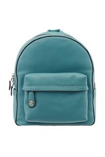 Голубой рюкзак из кожи Campus Coach