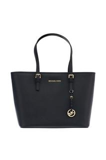 Черная сумка Jet Set Travel с золотистой фурнитурой Michael Kors