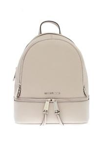 Черный кожаный рюкзак Rhea Zip Michael Kors