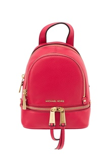 Малиновый рюкзак Rhea Zip Michael Kors