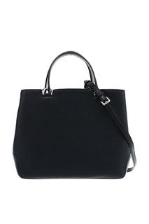 Черная кожаная сумка Annabelle Michael Kors